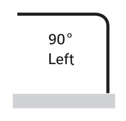 90° Left
